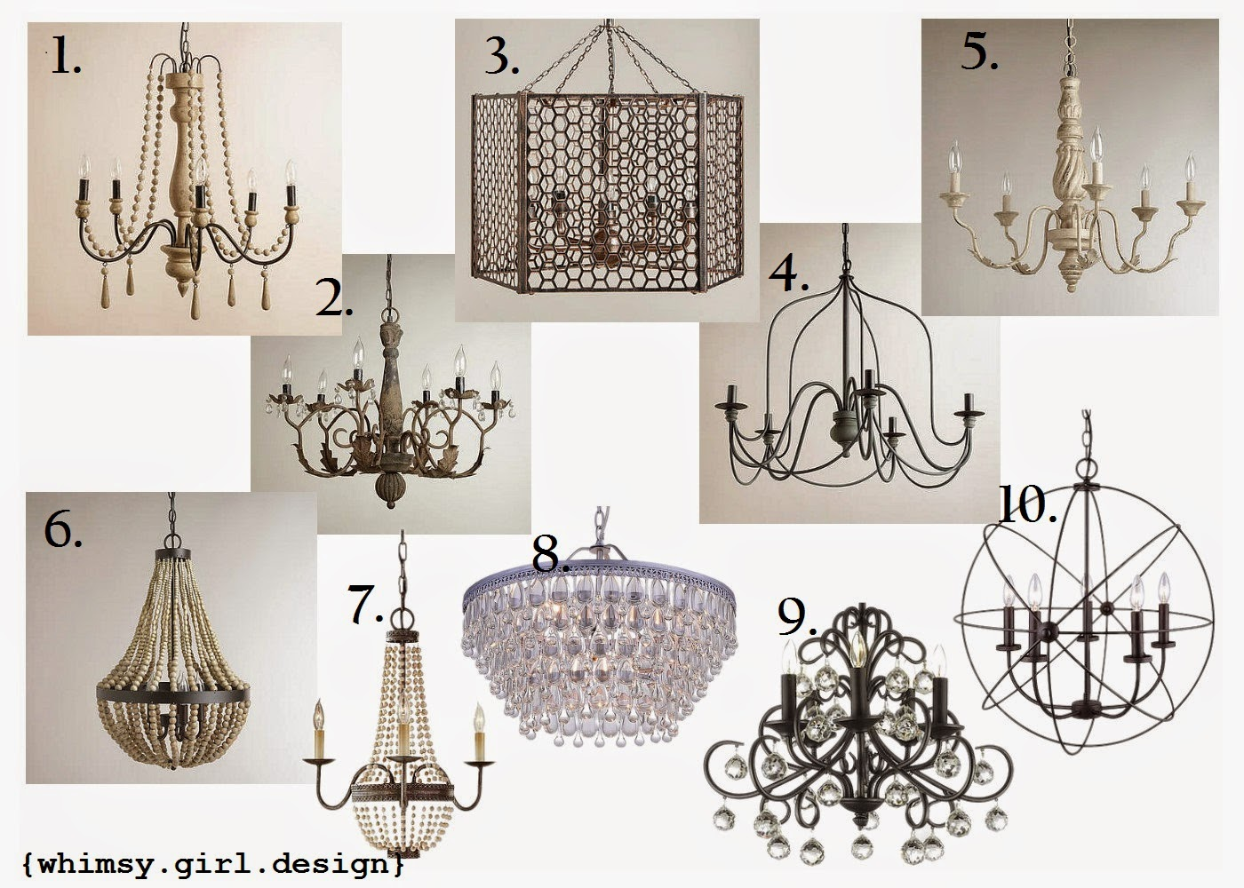 Whimsy girl friday finds chandeliers under 200 options for a few clients and came across these beauties that are all under 200 a new chandelier is a great way to give a room a new updated look aloadofball Choice Image