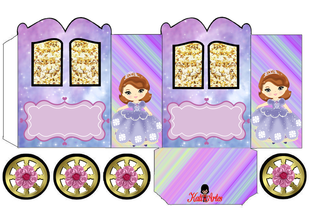 Sofia the First: Princess Carriage Shaped Free Printable Box.