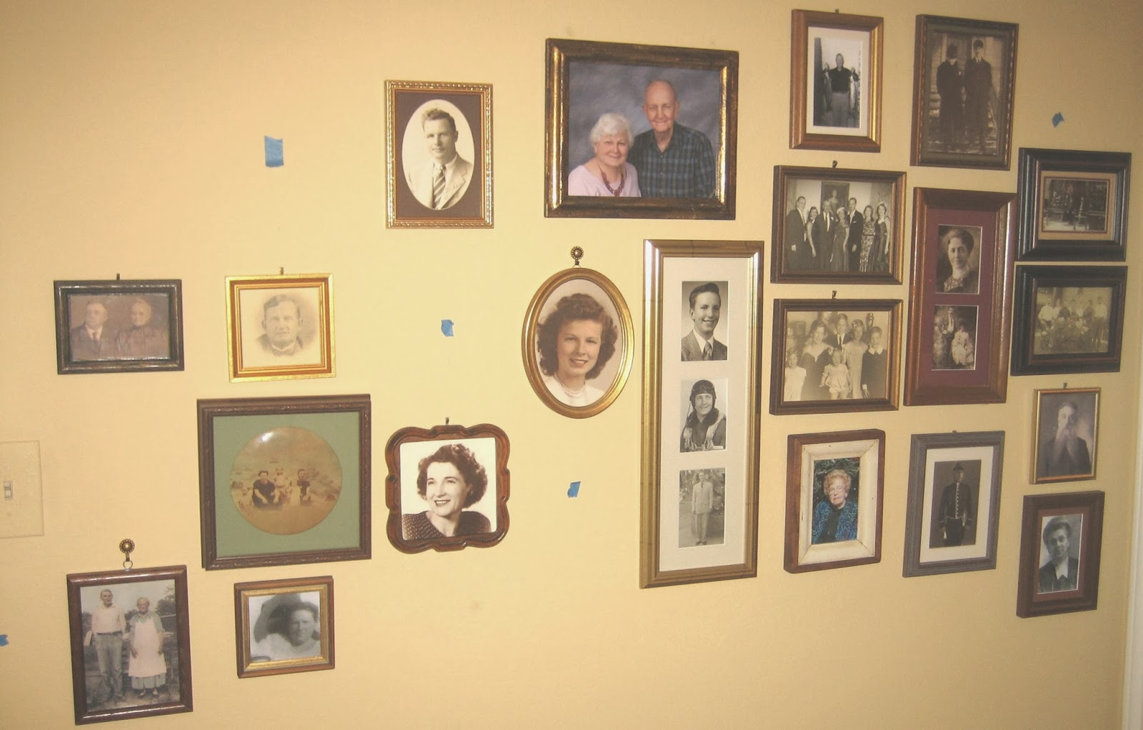 ABT UNK: Sentimental Sunday: Family Tree Wall: A Work in Progress