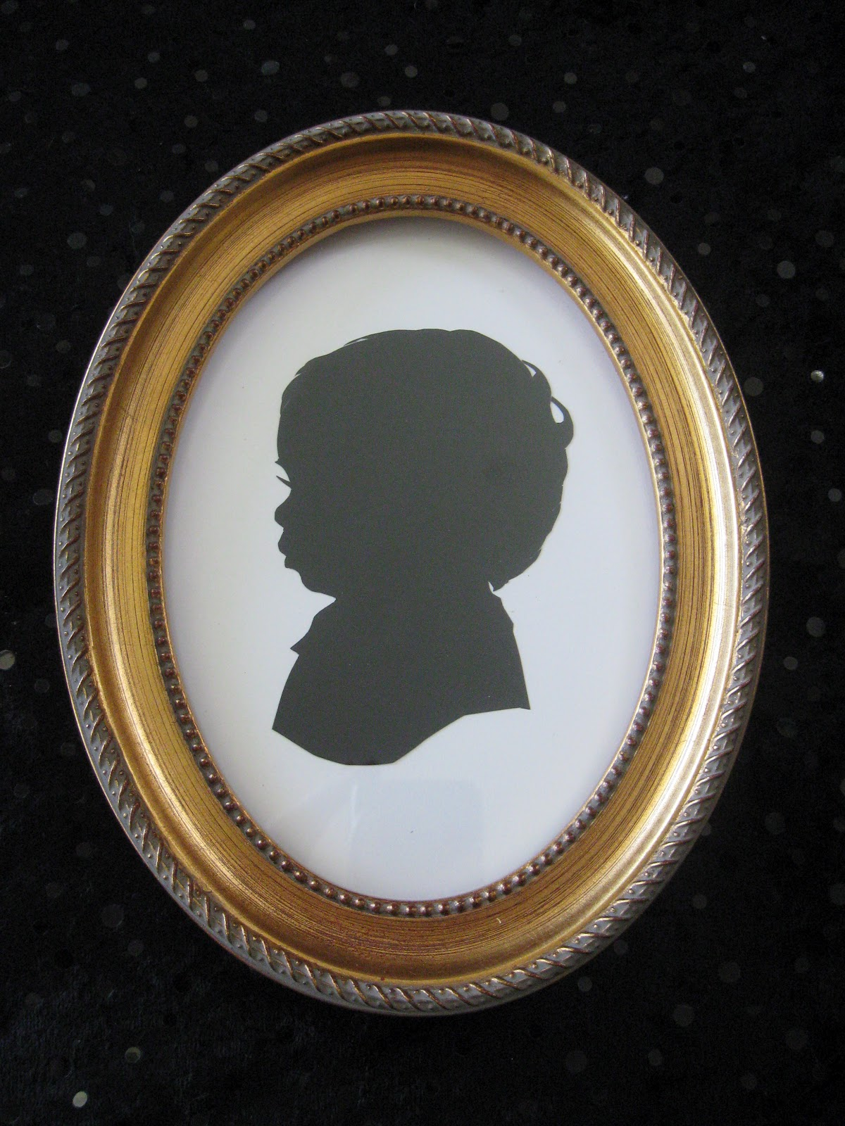 gold 5x7 wood oval silhouette frame