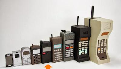 تطور حجم الموبايل