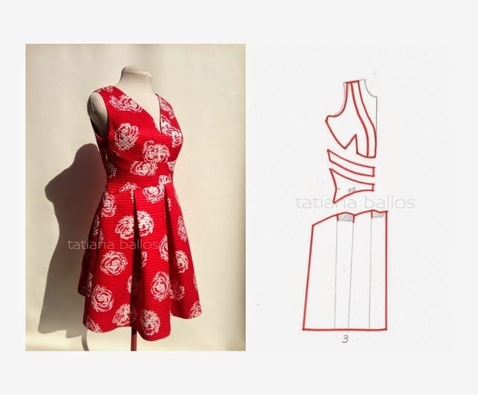 Предварительный расчет женского платья полуприлегающего силуэта