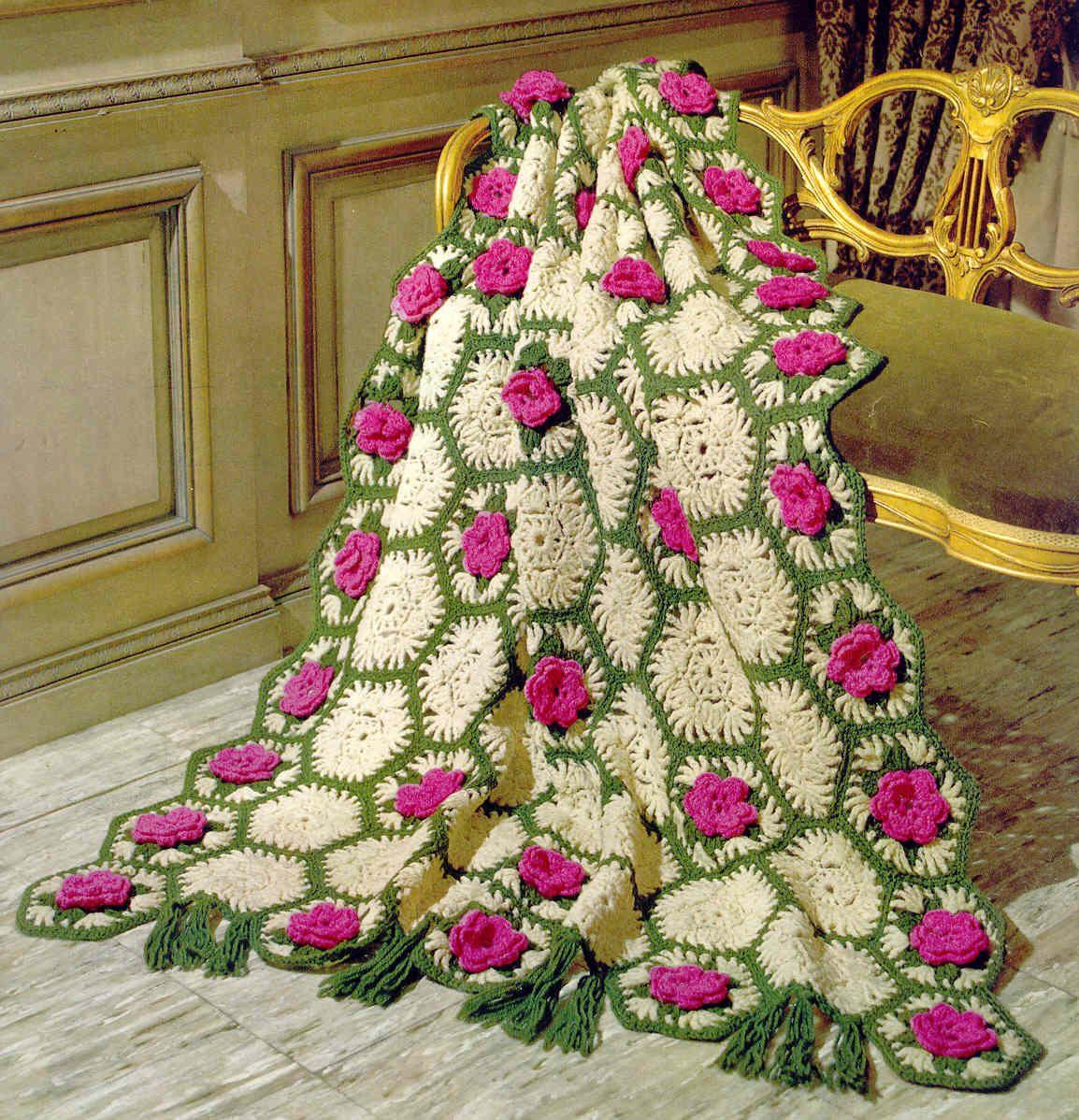 Вязание плед из цветов