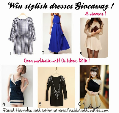 Win stylish dresses Giveaway, 3 winners on Fashion and Cookies