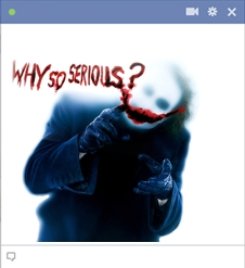 Why So Serious - The Joker Emoticon For Facebook