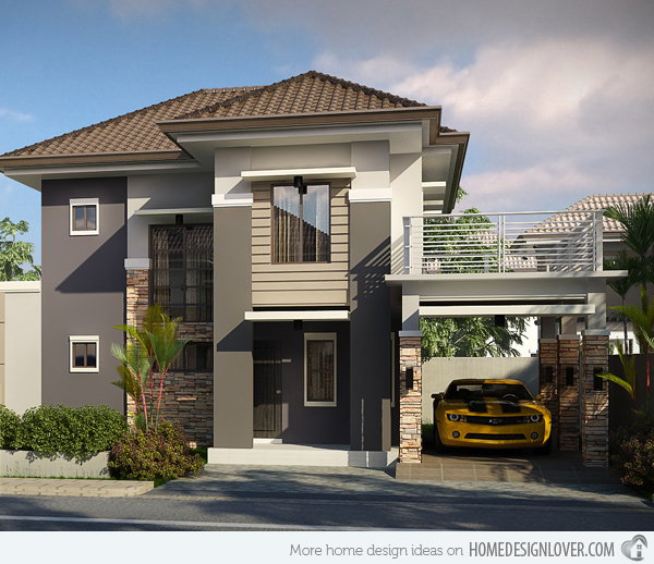 33 beautiful 2 storey house photos for Terrace home plans