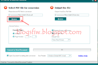 Merubah File PDF ke Word
