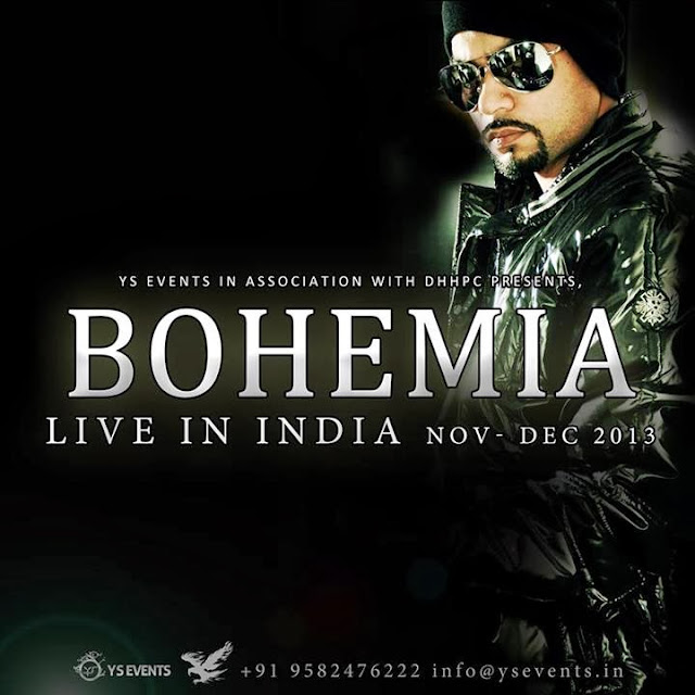 BOHEMIA - LIVE IN INDIA NOV-DEC 2013