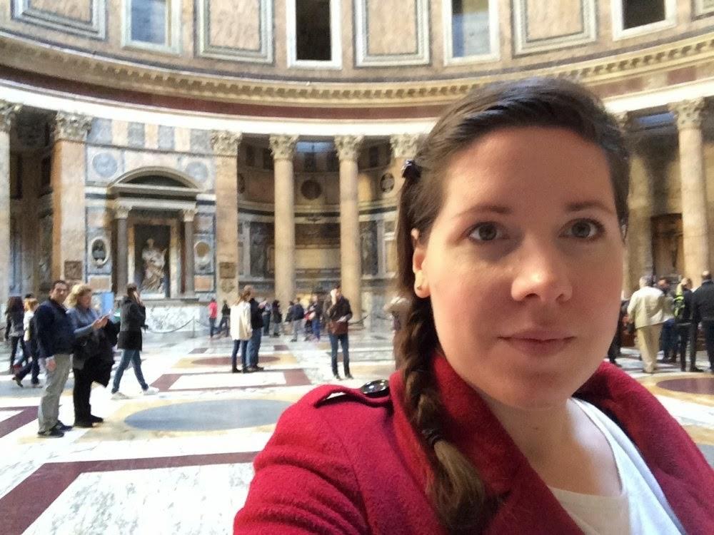 Selfie im Pantheon