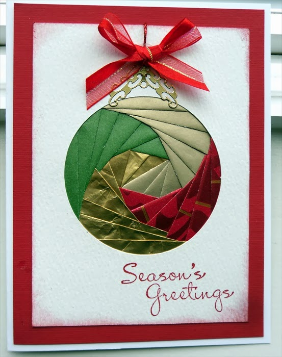 Here is another craft that is positively gorgeous, but it is one I ...: www.cardmakingbycarole.com/2013/12/iris-and-paper-folding.html