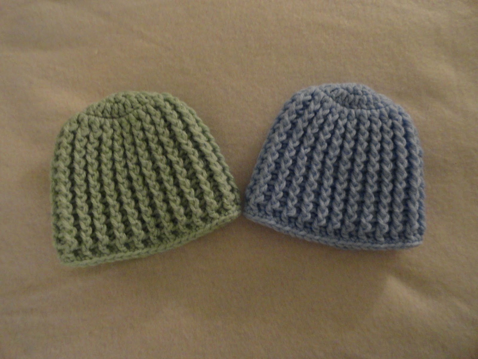 Crochet Ribbing : Crochet Crazy Mama: Crochet Ribbed Baby Hats
