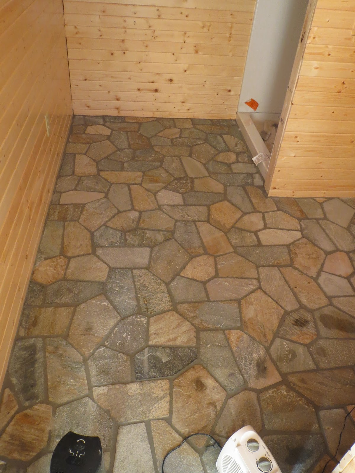 Rock floor, tile, huismanconcepts, ely, minnesota, custom, lake, cabin