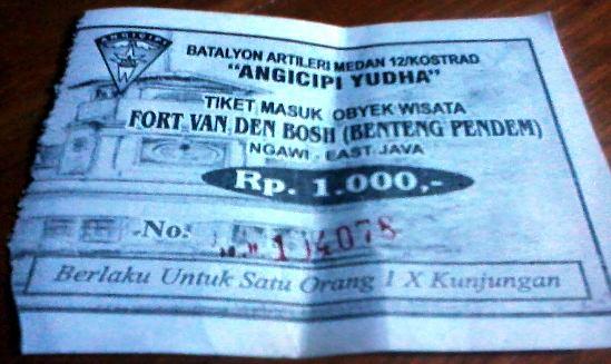 tiket masuk benteng pendem