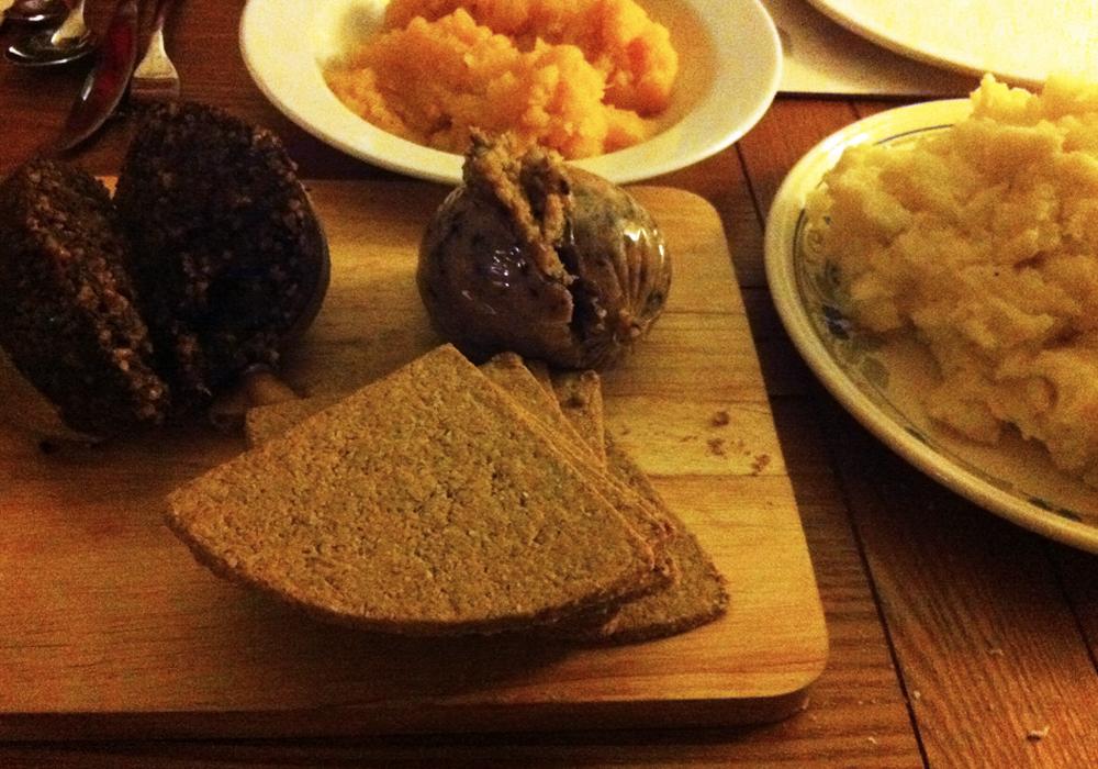 haggis meal, Edinburgh