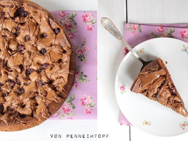 Herziges für meinen Blog: Schoko-Kirsch-Kuchen - Gastpost von Penne im Topf
