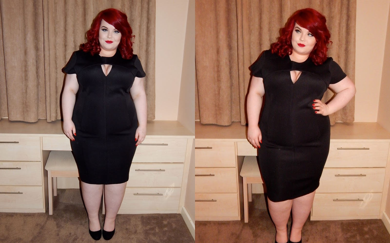 The Curve's Triangle Cut Out Pencil Dress, georgina grogan, plus size blogger