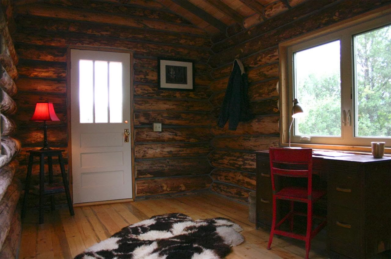 Coolest cabins tiny house log cabin for Small cabin interiors photos