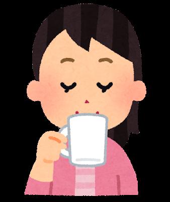 コーヒーを飲んでいる人のイラスト