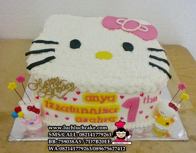 Kue Tart Ulang Tahun Hello Kitty 3d Lucu Daerah Surabaya - Sidoarjo