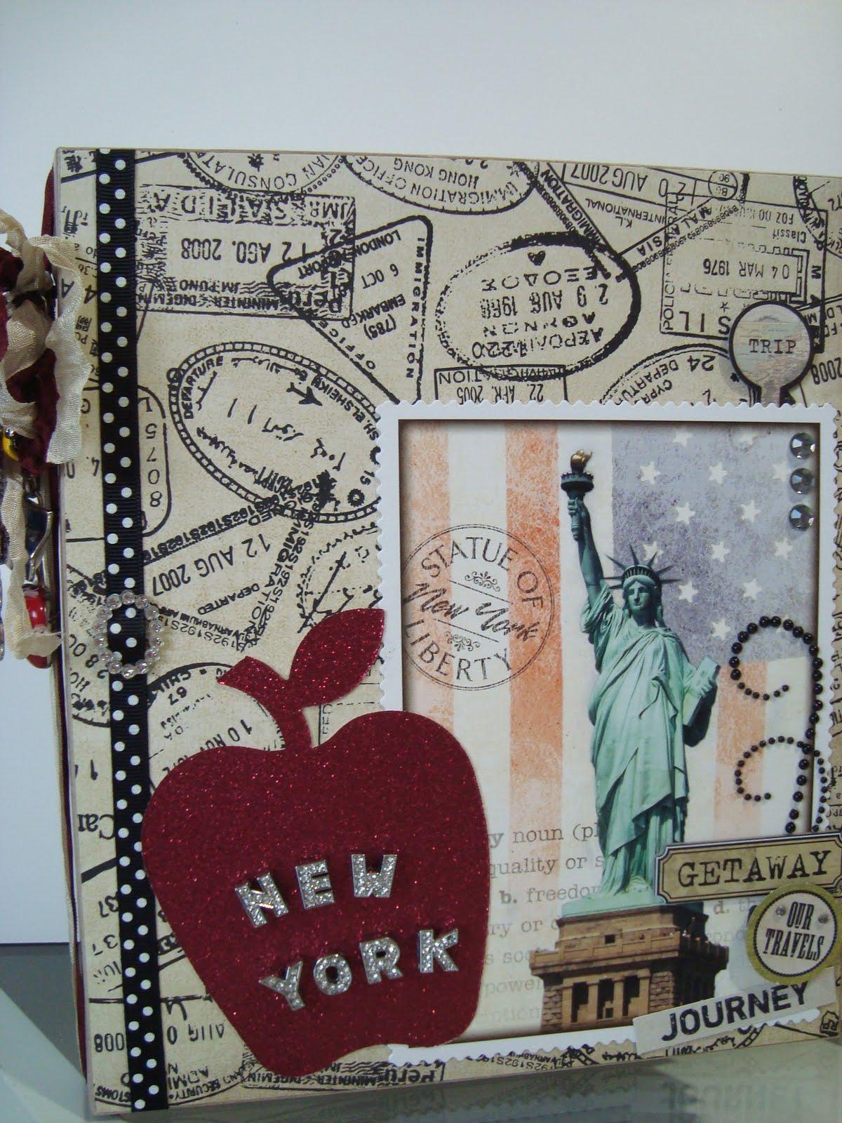 simply me new york new york mini album. Black Bedroom Furniture Sets. Home Design Ideas