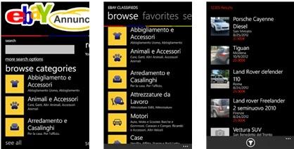 DOWNLOAD APPLICAZIONE EBAY ANNUNCI IN ITALIANO PER SMARTPHONE WINDOWS PHONE