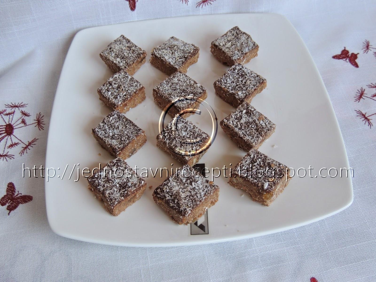Kokos kocke sa plazma keksom