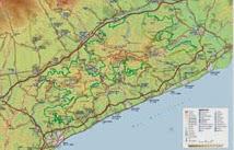 Mapa del Parc del Montnegre i El Corredor