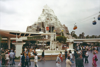 Matterhorn Skyway Tomorrland Terrace Disneyland original 1970's