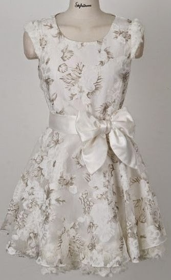 Summer Dressing - White Dress With Bow