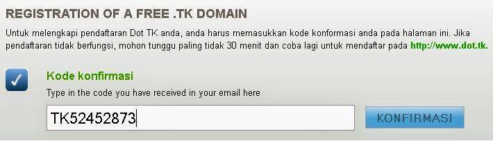 Mendaftar Domain TK