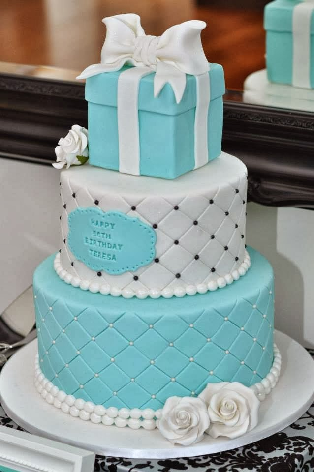 Tiffany Blue Cake Design : Little Big Company The Blog: Tiffany Inspired 50th ...