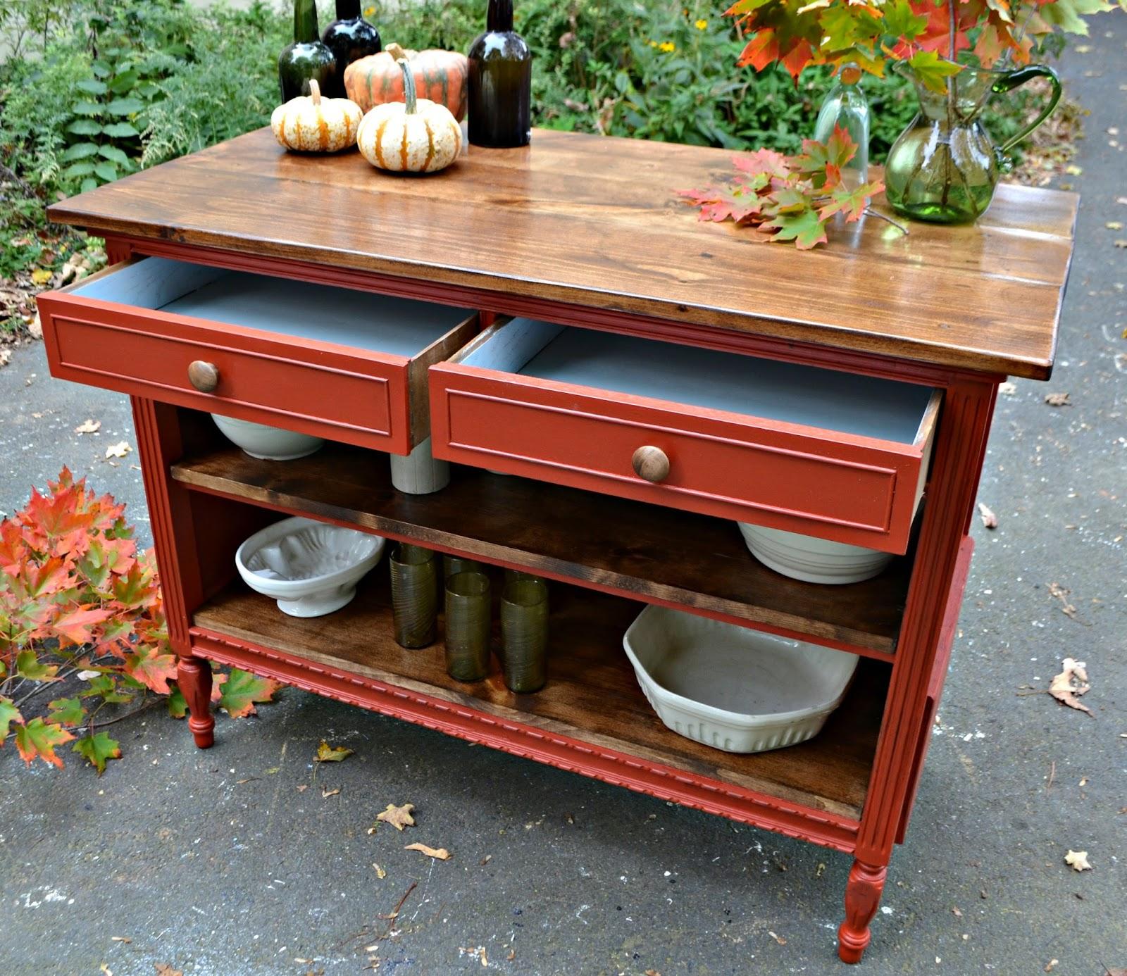 Vintage Kitchen Island: Heir And Space: An Antique Dresser Turned Kitchen Island