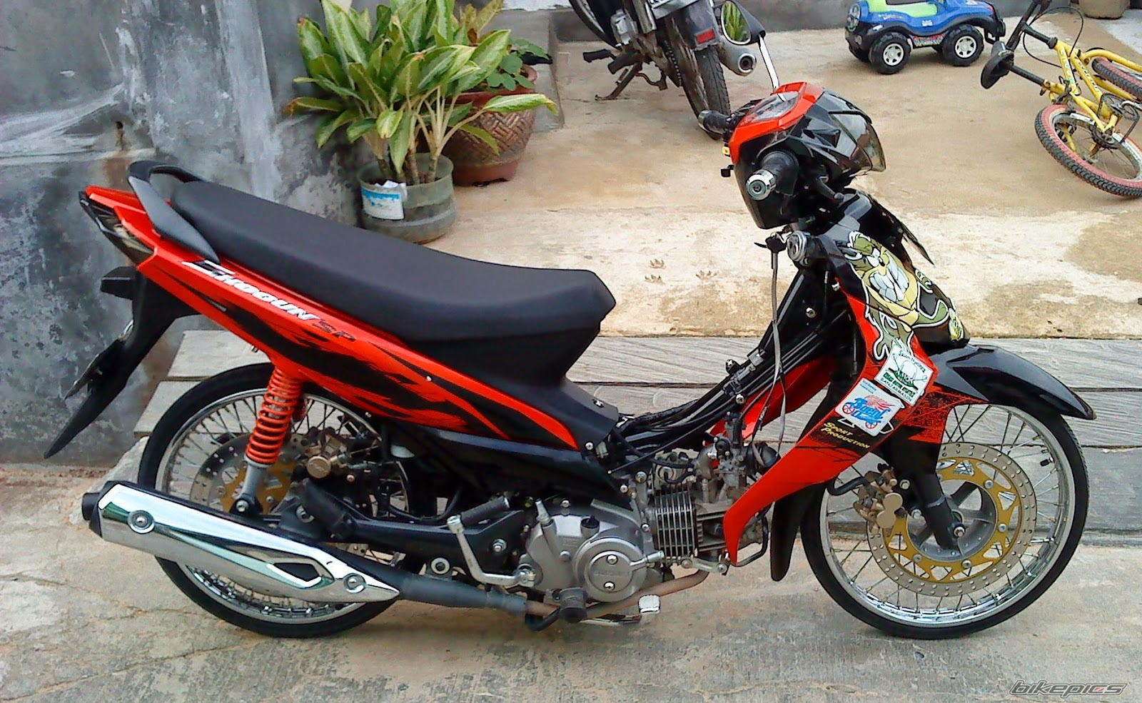 contoh modifikasi suzuki shogun sp