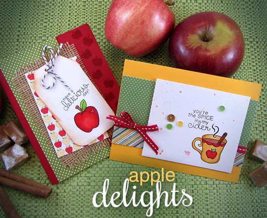 Apple Delights Stamp set by Newton's Nook Designs - Apple and Cider cards by Jennifer Jackson