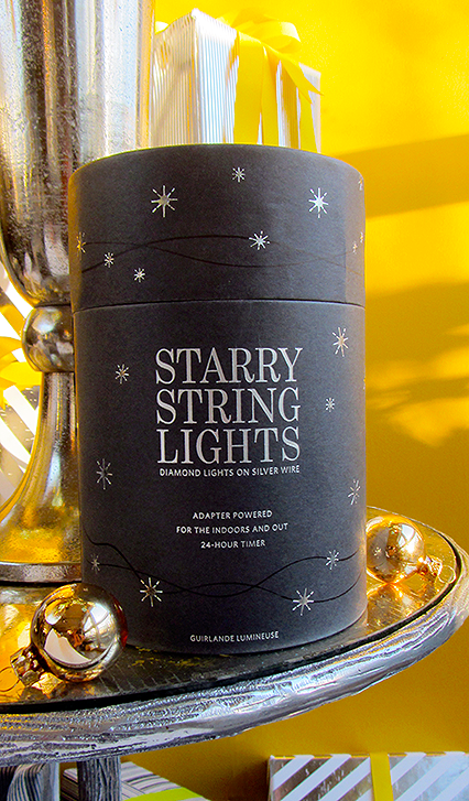 Starry String Lights Gold : The Decorated Tree (of Life): fresh perspective