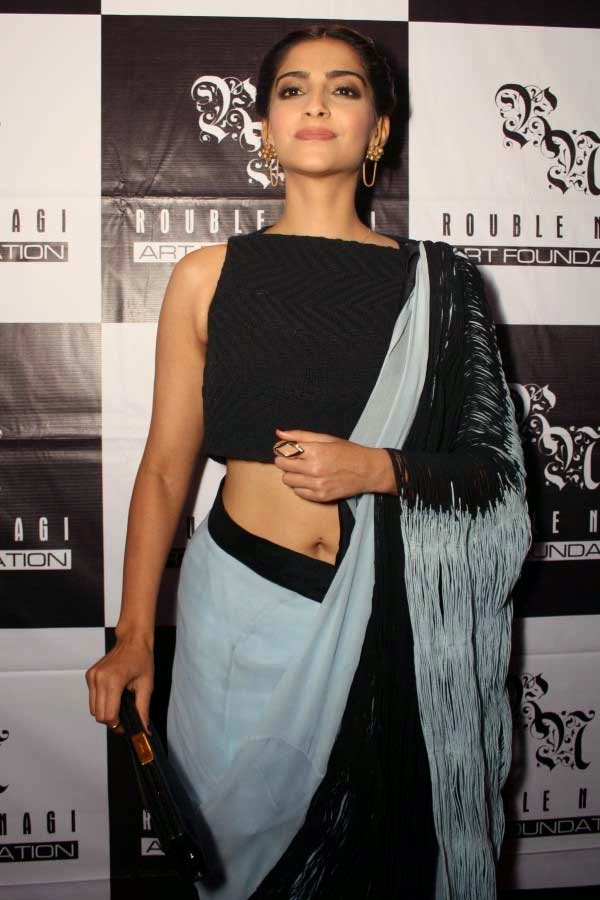 Sonam Kapoor at Rouble Nagi's Painting Exhibition