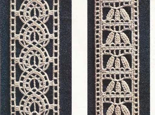 """423 Patrón de Encajes """"Minuciosos entredoses"""" a Crochet ~ Patrones ..."""