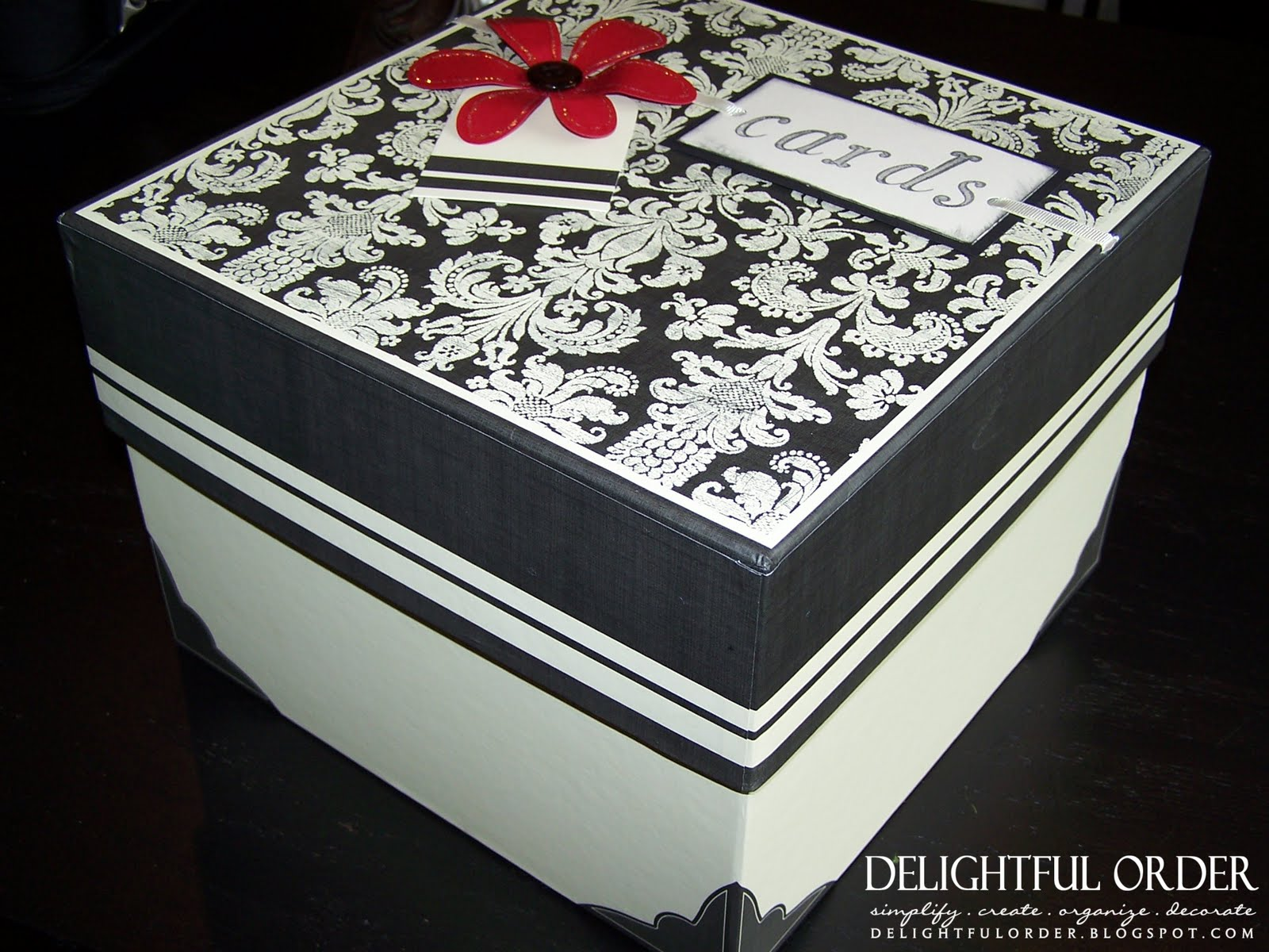 Delightful Order My Organized Greeting Card Box
