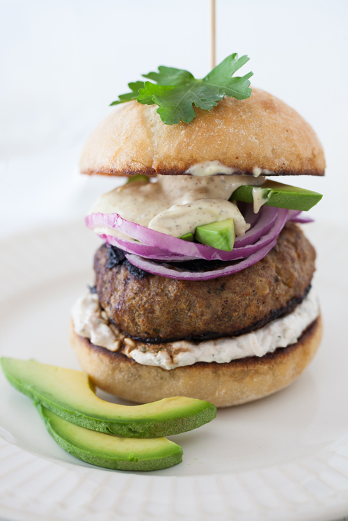 Burgers With Lime And Red-Onion Relish Recipe — Dishmaps