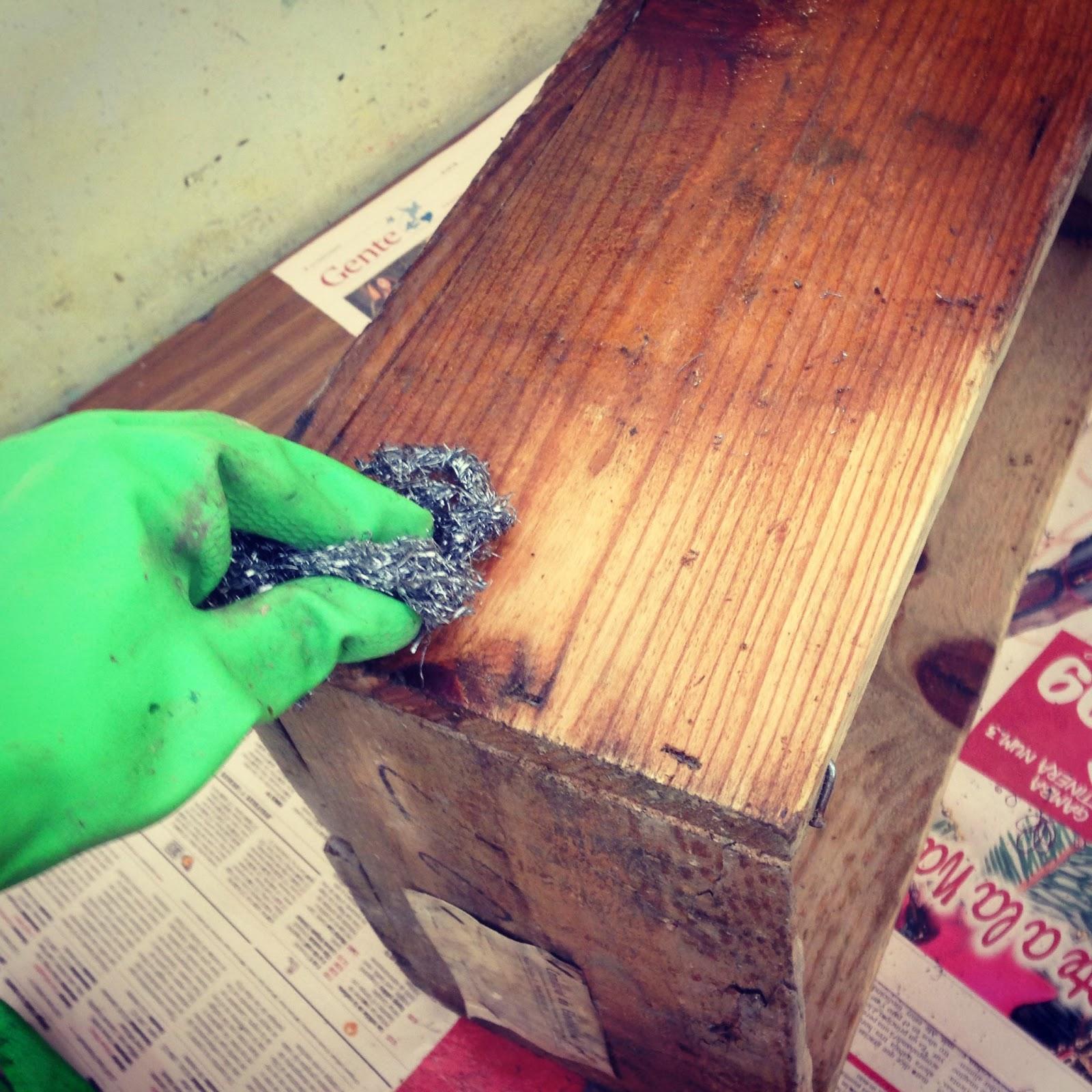 Restaurar cajas de madera rojosill n - Pasta para reparar madera ...