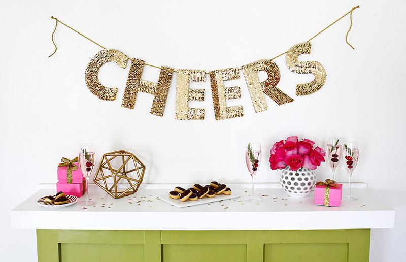 Ideias fáceis e rápidas para você decorar a sua festa de ano novo e que podem durar o ano todo!