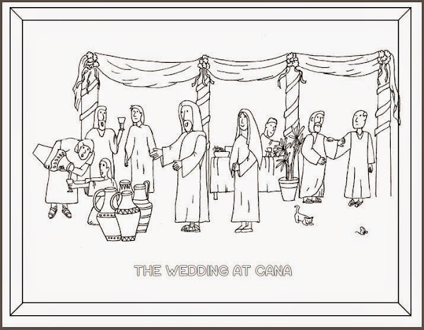 Wedding at Can a Coloring Page