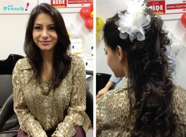 antes e depois - penteado cabelo de noiva