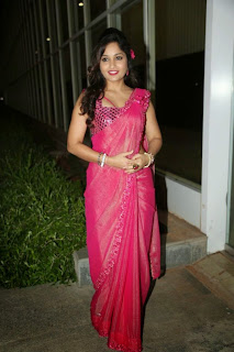 Actress Madhavi Latha Pictures in Pink Saree at Mosagallaku Mosagadu Audio Release Function  7.JPG