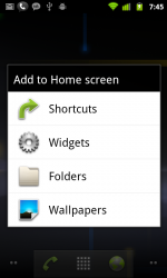 Homescreen setting