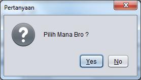 Contoh Penggunaan Dialog di Java dengan JOptionPane