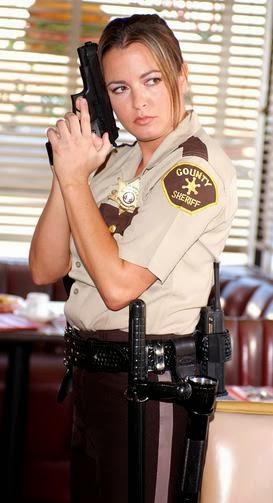 Sherif girl girl with a gun
