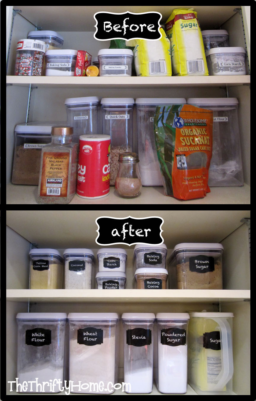 Kitchen cabinets kirkland -  The Thrifty Home Simple Solutions To Organize A Deep Pantry