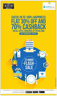 Flash Sale Offer Yatra.com | Limited 72 hours sale | Come on Hurry !