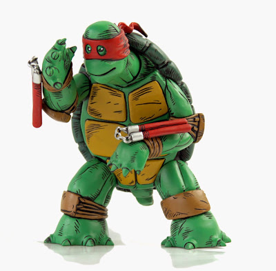 "Red Mask Fully Painted Edition ""The First Turtle"" Teenage Mutant Ninja Turtles Vinyl Figure by Kevin Eastman & Mondo"